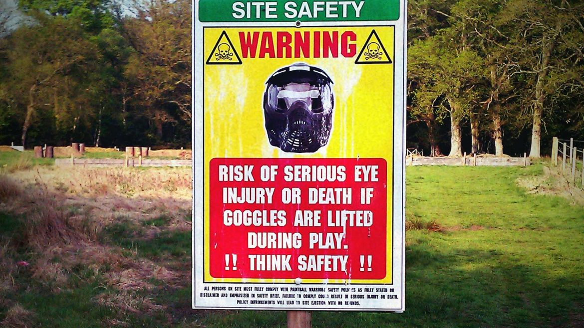 Paintball Mask Safety