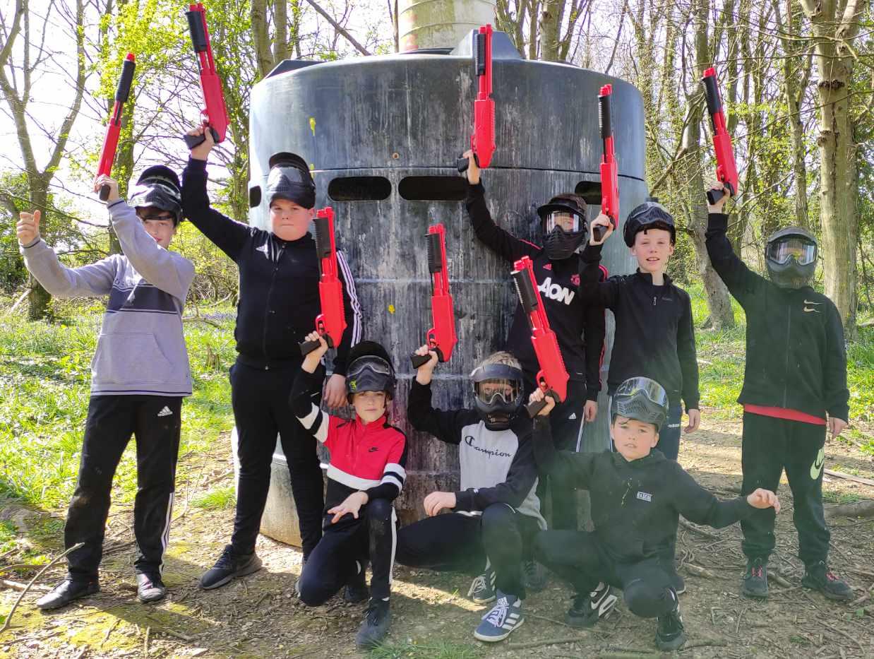 splatmaster paintball birthday team photo